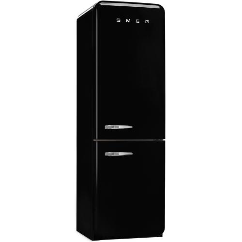 Smeg 50's Retro Style Bottom Freezer Refrigerator 60Hz Right Hinge Black 24-Inch