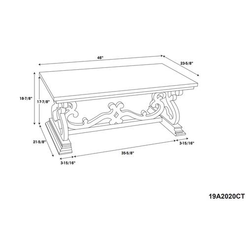 Double Pedestal Console, Distressed White