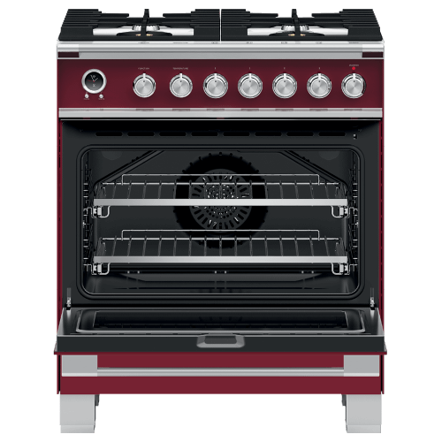 """Fisher & Paykel - Dual Fuel Range, 30"""", 4 Burners, Self-cleaning"""