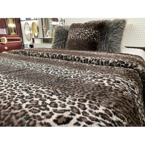 "Lepo Blanket/Coverlet Collection - Cal King/Eastern King - 104"" x 93"" / Brown / 100% Polyester"