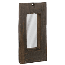 Small Rail Road Tie Vertical Wall Mirror (Each One Will Vary)