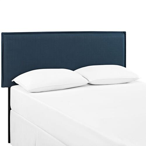 Camille Queen Upholstered Fabric Headboard in Azure