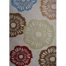 Durable Hand Tufted Transition TF69 Area Rug by Rug Factory Plus - 5' x 7' / Beige