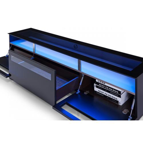 Modrest Lowry Contemporary Black TV Stand