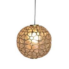 See Details - (LS) Round Kapis Hanging Lamp (12x12x12)