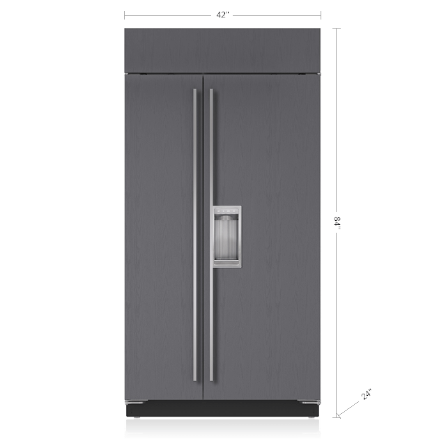 """Subzero42"""" Classic Side-By-Side Refrigerator/freezer With Dispenser - Panel Ready"""