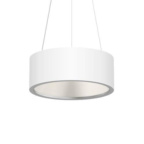 "Sonneman - A Way of Light - Tromme LED Pendant [Size=18"" Standard, Color/Finish=Satin White]"