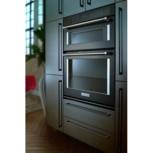 "30"" Combination Wall Oven with Even-Heat™ True Convection (Lower Oven) - Black Stainless Steel with PrintShield™ Finish"