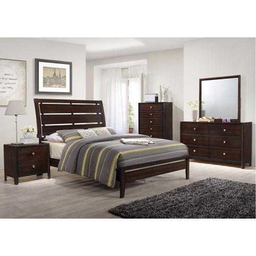 Lane Home Furnishings - Jackson 7PC Set: Queen Bed, Dresser, Mirror, Chest & Nightstand (1017)
