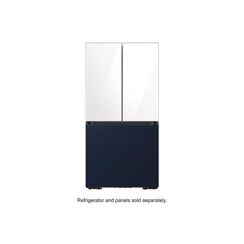 BESPOKE 4-Door Flex™ Refrigerator Panel in Navy Steel - Bottom Panel