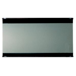 Aeri large, rectangular wall mount mirror with integral wood shelf. Product Image
