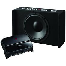 """12"""" Sealed Bass Package with Subwoofer, Amp & Enclosure"""