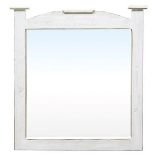 Weathered White Mansion Mirror