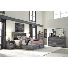 View Product - King Panel Bed With 4 Storage Drawers With Dresser