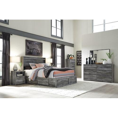 Ashley - King Panel Bed With 4 Storage Drawers With Dresser