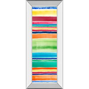 "Classy Art - ""Cabana Panel I"" By Regina Moore Mirror Framed Print Wall Art"