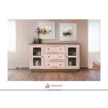 See Details - 3 Drawers, 2 doors Console - White Finish
