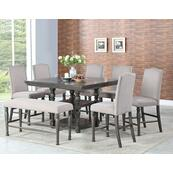 Caswell 5 Piece Counter Set(Counter Table & 4 Counter Chairs)