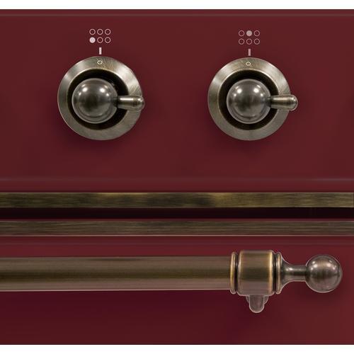36 Inch Burgundy Dual Fuel Liquid Propane Freestanding Range