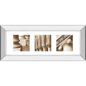 """Architectural Triptych I"" By Tony Koukos Mirror Framed Print Wall Art"