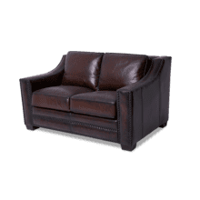 Henley Leather LoveSeat in Ember Espresso