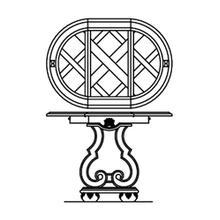 Lamp Table w/ Drop Leaf