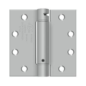 """Deltana - 4-1/2"""" x 4-1/2"""" Spring Hinge, UL Listed - Brushed Stainless"""