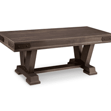 "Chattanooga 48"" Pedestal Bench with Leather Seat"