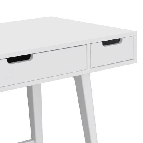 Accentrics Home - Mid-Century Writing Desk - White