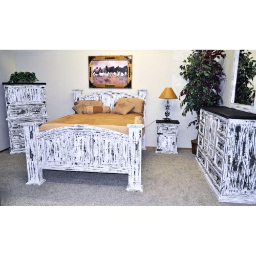 White Scraped Bedroom Group