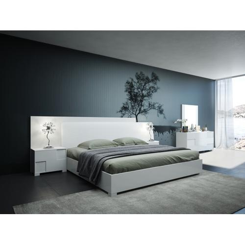 Modrest Monza Italian Modern White Bed