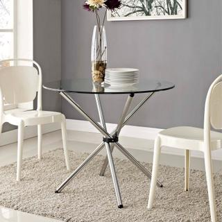 Baton Round Dining Table in Clear
