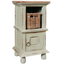 End Table - Antique Green with Mahogany Top