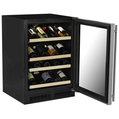 24-In Built-In High Efficiency Gallery Single Zone Wine Refrigerator with Door Swing - Right