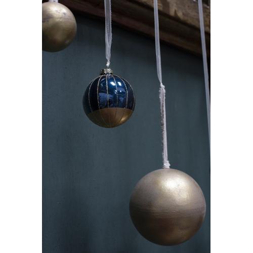 """3"""" Dark-Blue Rococo Ornament (Dip Option)"""