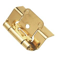 Semi-Concealed Full Wrap Hinge (2-Pack) - Polished Brass