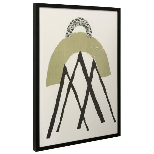 Style Craft - GEOMETRIC II  38in X 26in  Made in the USA  Textured Framed Print