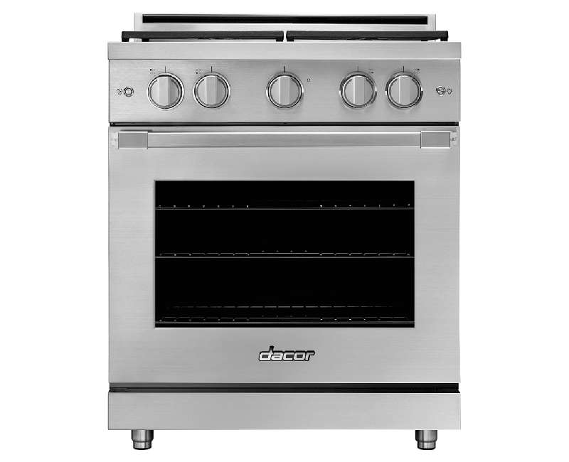 "Dacor30"" Gas Pro Range, Silver Stainless Steel, Liquid Propane/high Altitude"