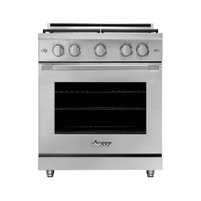 "30"" Gas Pro Range, Silver Stainless Steel, Natural Gas"