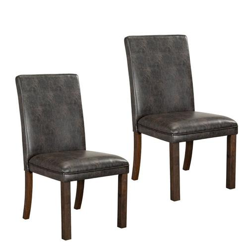 Standard Furniture - Trenton 2-Pack Upholstered Side Chairs, Brown