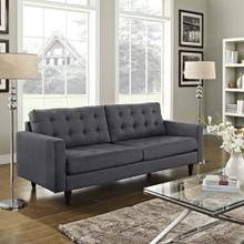 Empress Upholstered Fabric Sofa in Gray