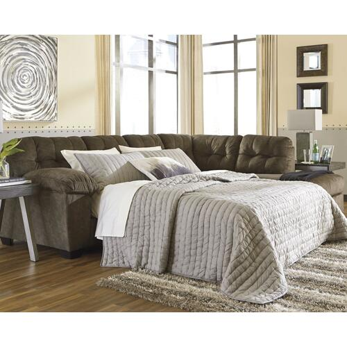 Signature Design By Ashley - Accrington 2-piece Sleeper Sectional With Chaise