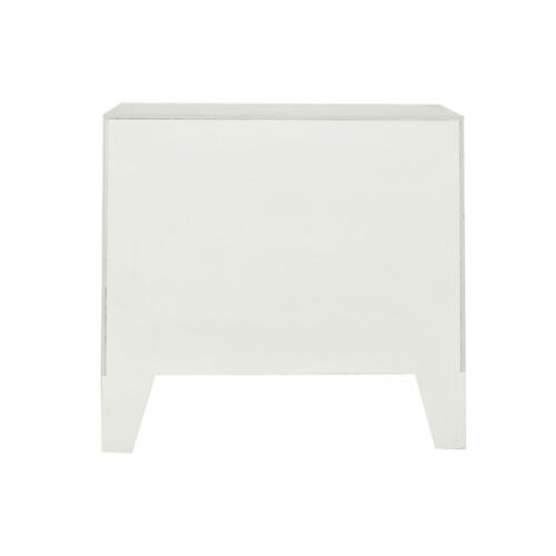 Antique Charm Two Drawer Accent Chest in Weathered White