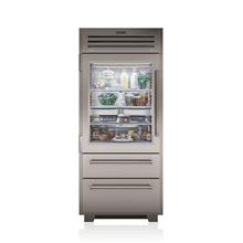 "36"" PRO Refrigerator/Freezer with Glass Door ONE ONLY! Out Of Box Full Manufacturer Warranty - Very Minor Scratch on Interior"