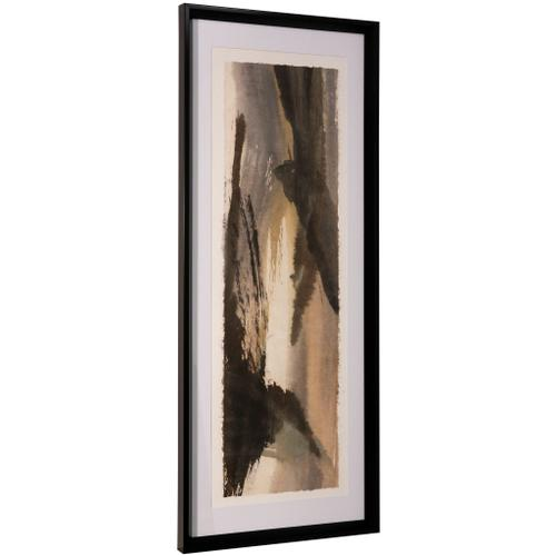 Style Craft - BRUSHSCAPE III  42in ht X 17in w  Framed Print Under Glass