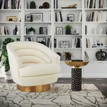 View Product - Canyon Cream Velvet Swivel Chair