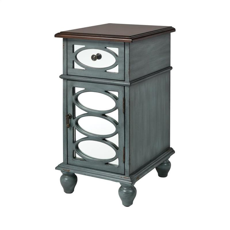 Conestoga Accent Table In Aged Blue