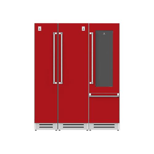 "Hestan - 66"" Column Freezer (L), Refrigerator and Wine Refrigerator ® Ensemble Refrigeration Suite - Matador"