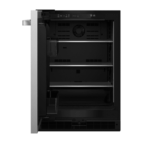 "NOIR™ 24"" Under Counter Solid Door Refrigerator, Left Swing"