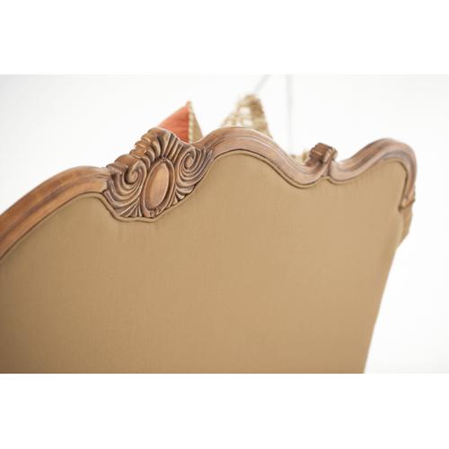Wood Trim Camelback Sofa - Opt1
